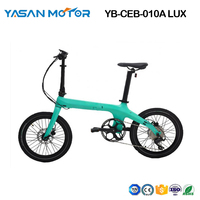 "Electric Bike City eBike 20"" Carbon Folding eBike Super Light"