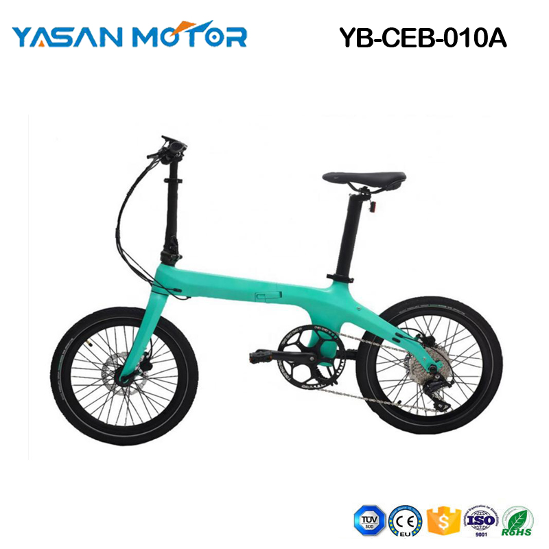 "Electric Bike City eBike 20"" Carbon Folding eBike"