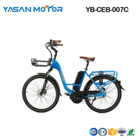 Electric Bike City eBike 500W Belt Trans Mid Drive Step Through